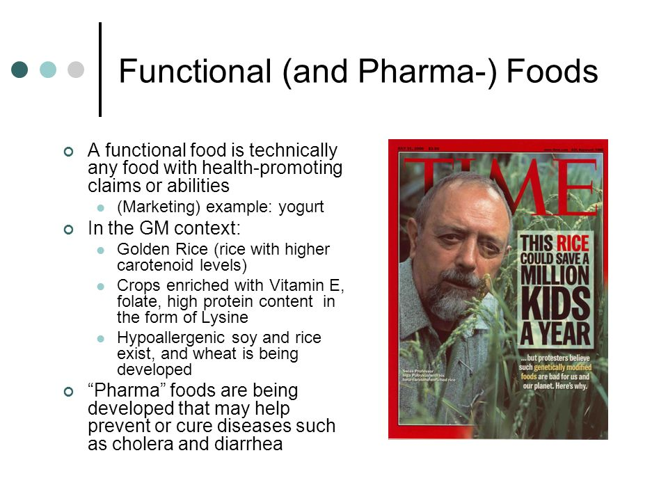 Functional (and Pharma-) Foods