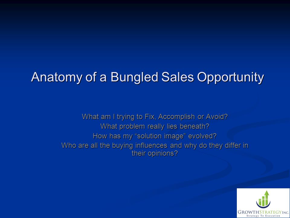 Anatomy of a Bungled Sales Opportunity