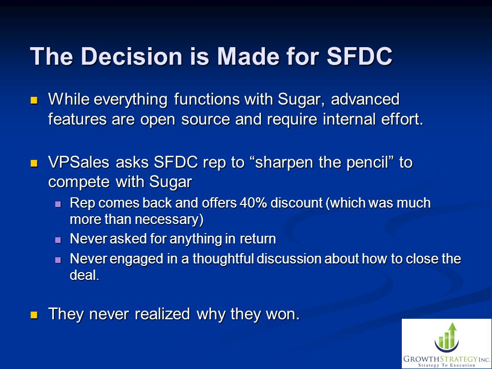 The Decision is Made for SFDC