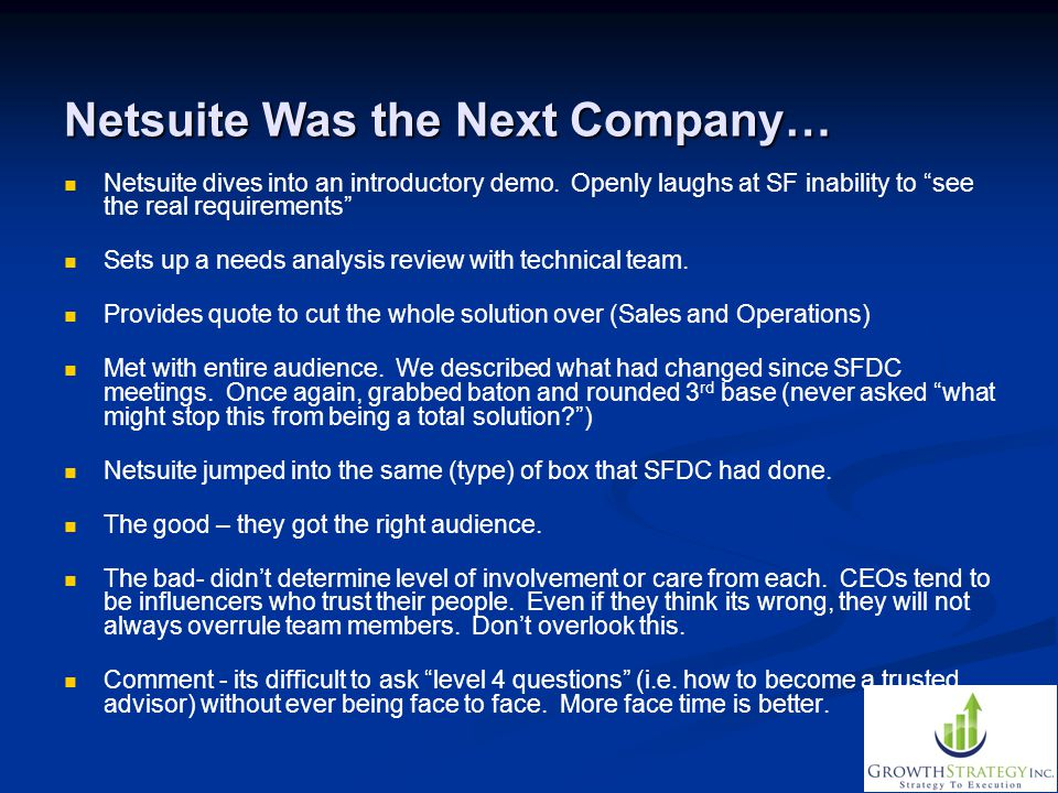 Netsuite Was the Next Company…