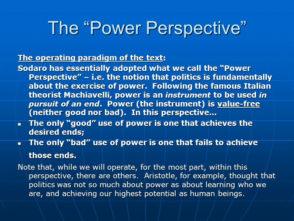 The Power Perspective