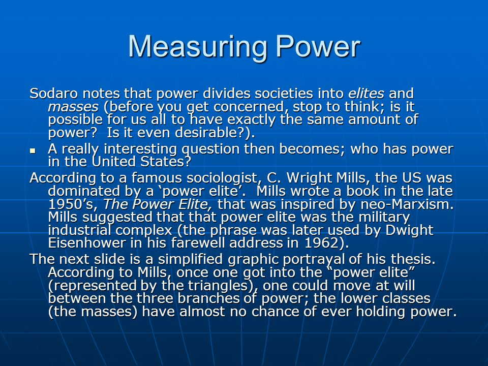 Measuring Power