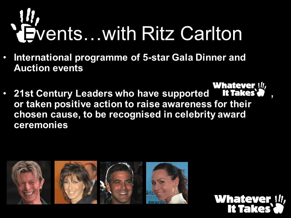 Events…with Ritz Carlton