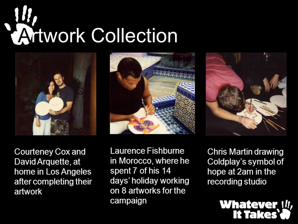 Artwork Collection Courteney Cox and David Arquette, at home in Los Angeles after completing their artwork.