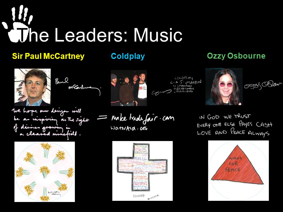 The Leaders: Music Sir Paul McCartney Coldplay Ozzy Osbourne