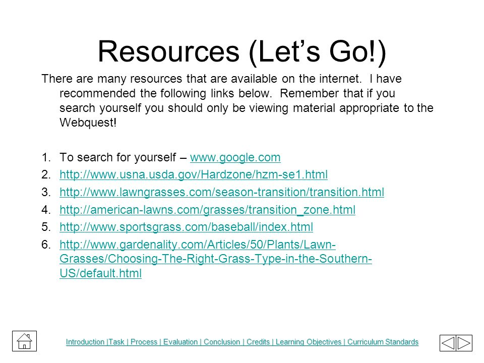 Resources (Let's Go!)