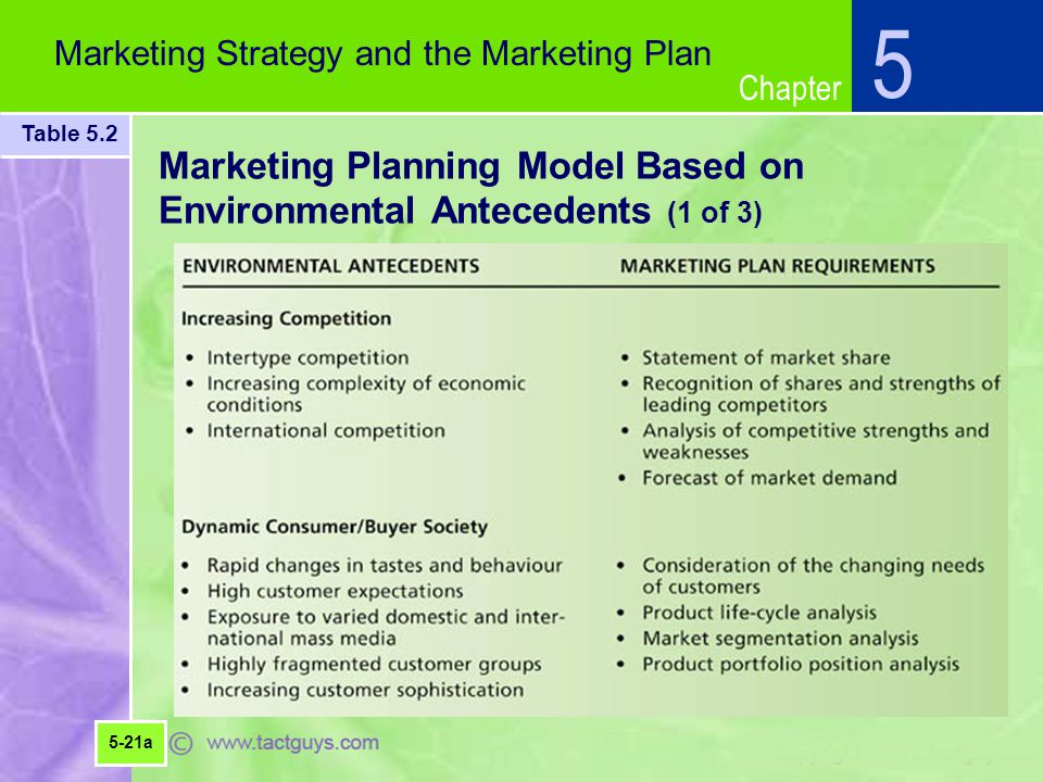 Marketing Planning Model Based on Environmental Antecedents (1 of 3)