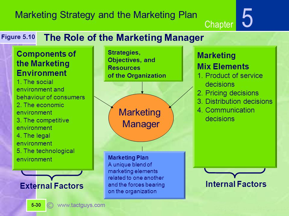 The Role of the Marketing Manager