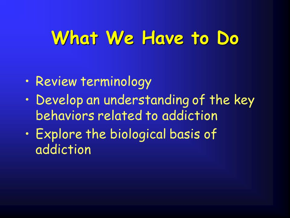 What We Have to Do Review terminology