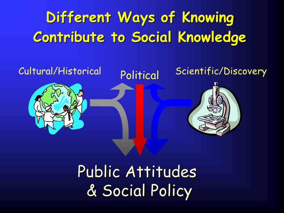 Different Ways of Knowing Contribute to Social Knowledge