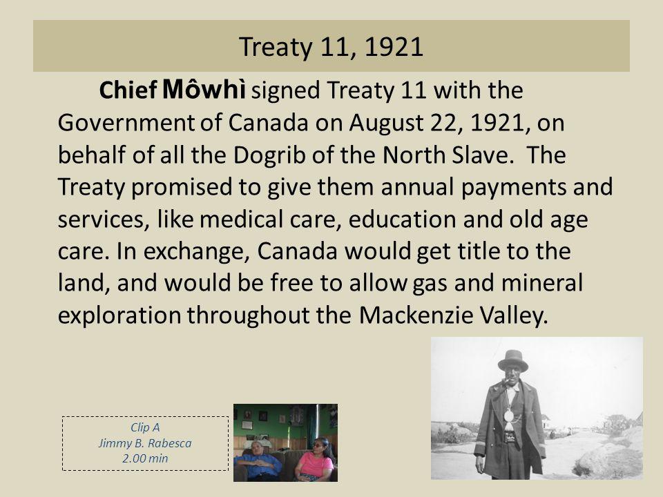 Treaty 11, 1921