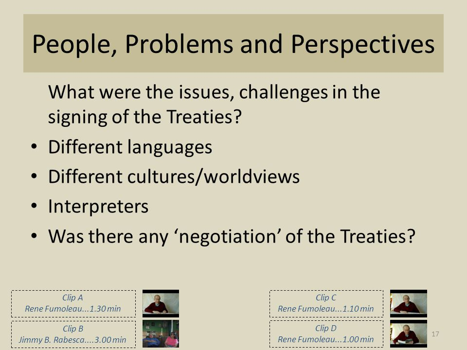 People, Problems and Perspectives