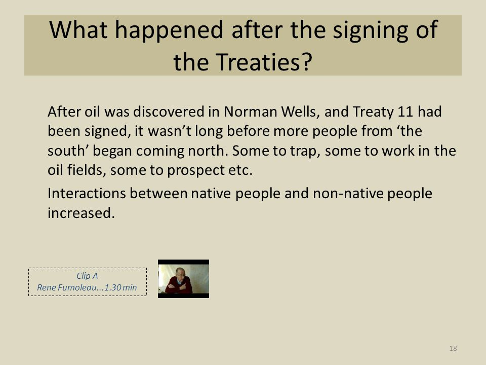 What happened after the signing of the Treaties