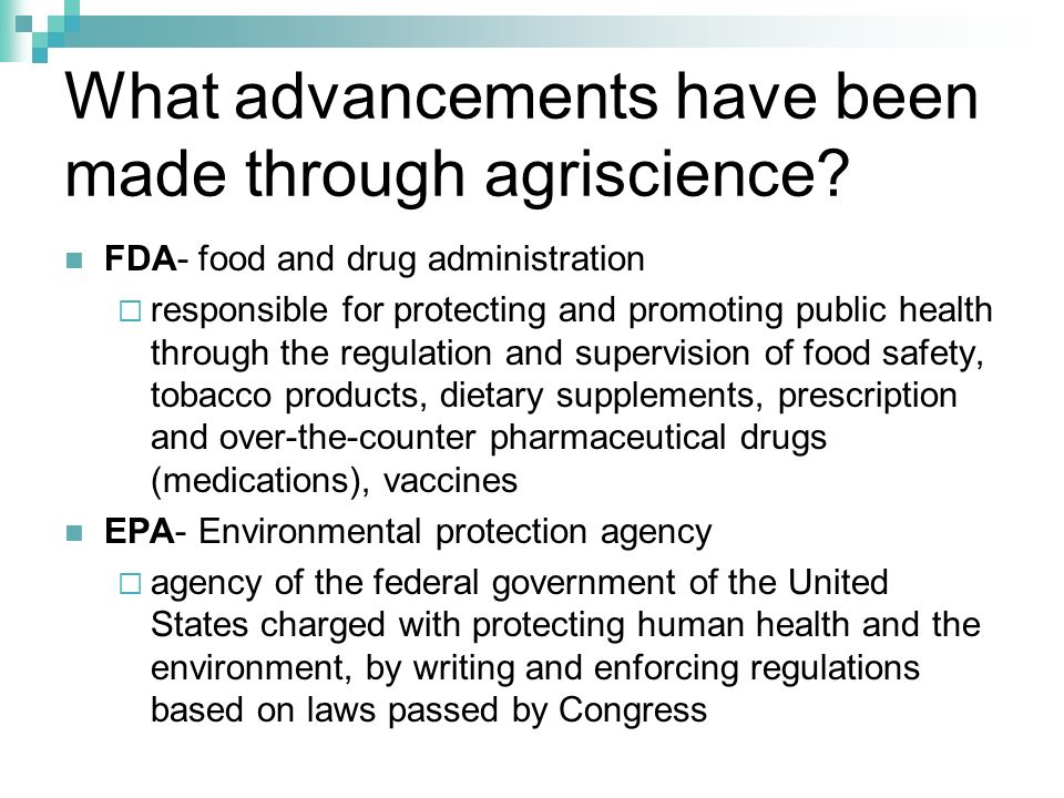 What advancements have been made through agriscience