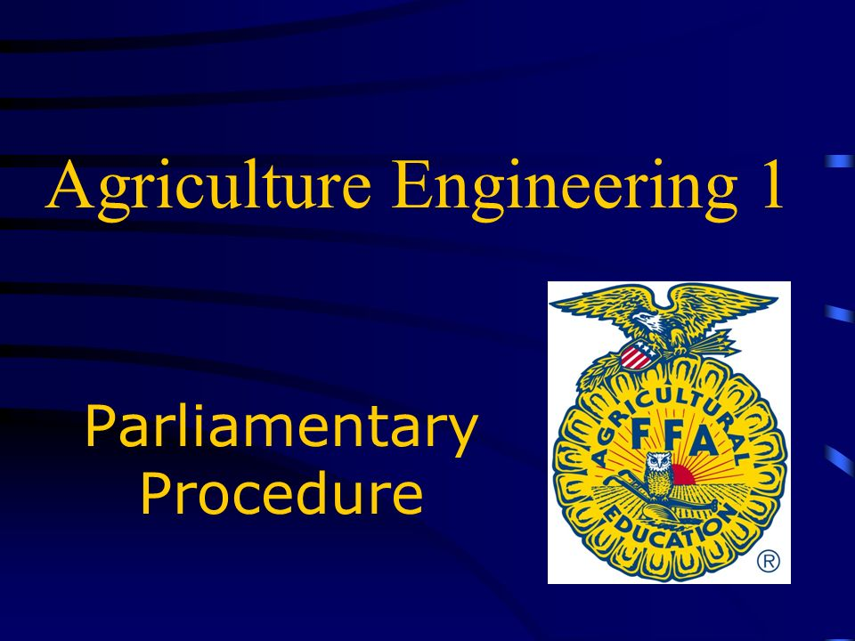 Agriculture Engineering 1