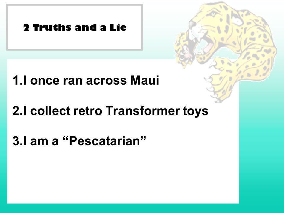 I collect retro Transformer toys I am a Pescatarian