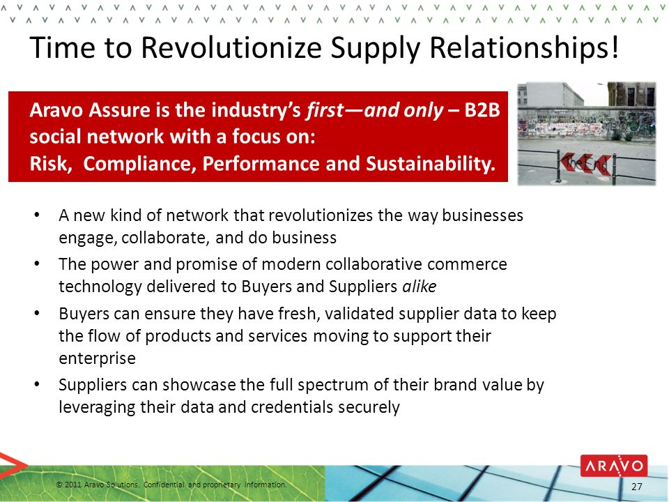 Time to Revolutionize Supply Relationships!