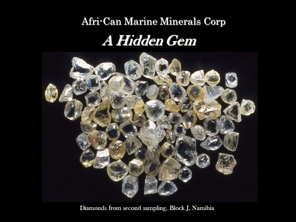 A Hidden Gem Afri-Can Marine Minerals Corp