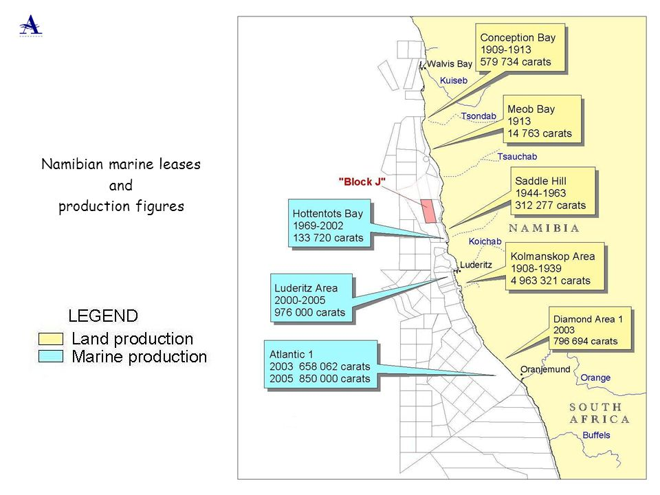 Namibian marine leases and production figures
