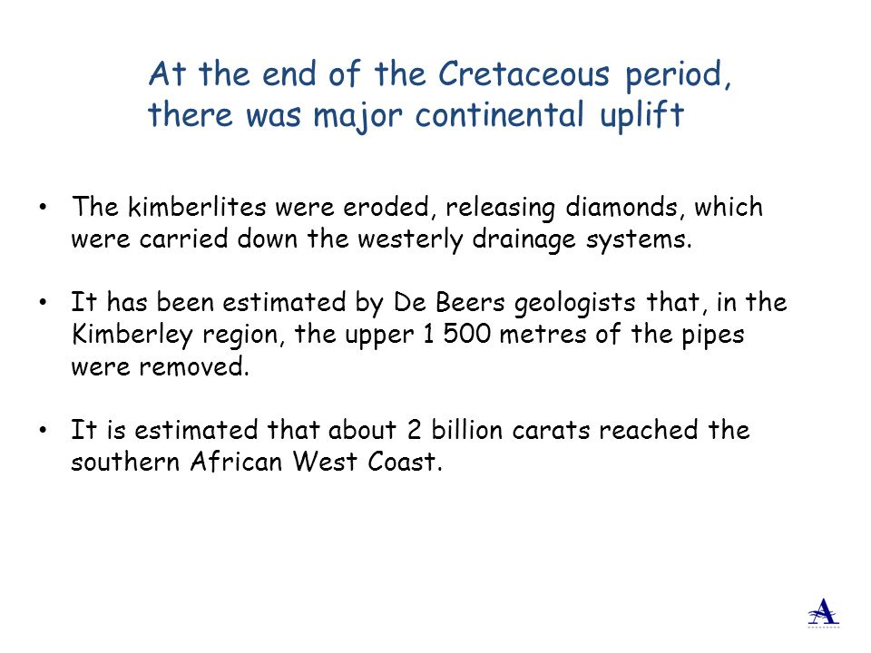 At the end of the Cretaceous period, there was major continental uplift
