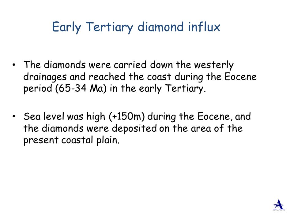 Early Tertiary diamond influx