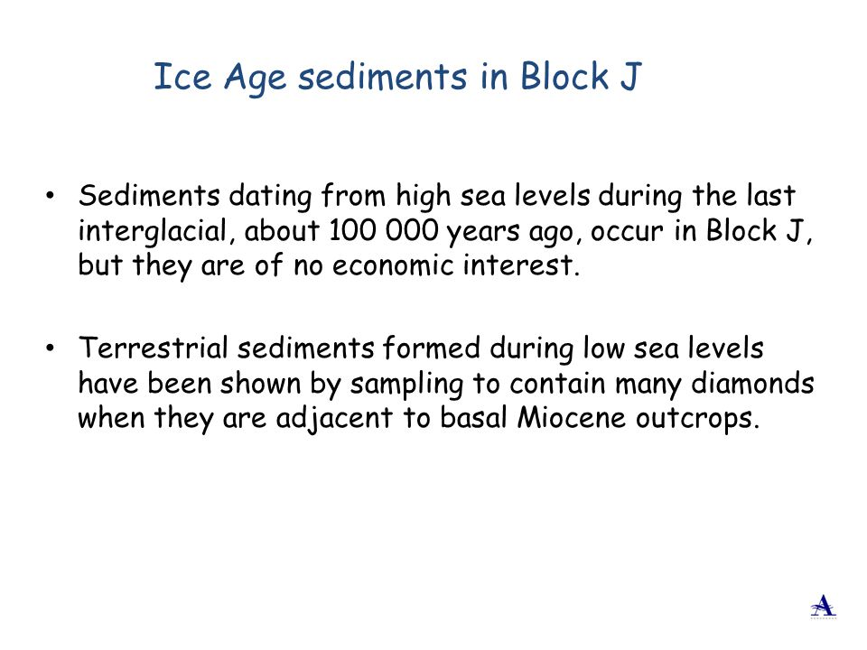 Ice Age sediments in Block J