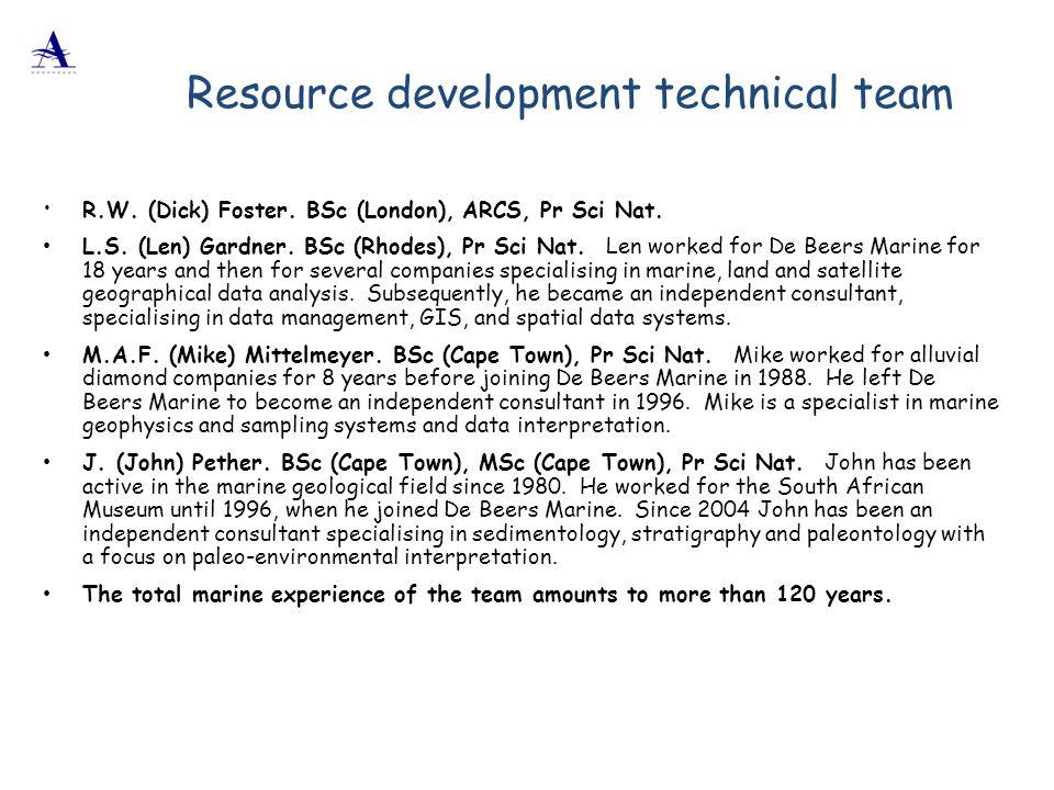 Resource development technical team