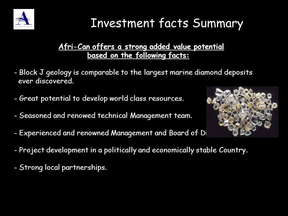Investment facts Summary