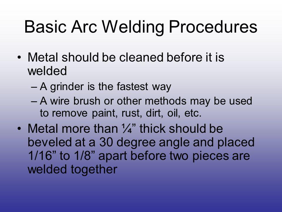 Basic Arc Welding Procedures