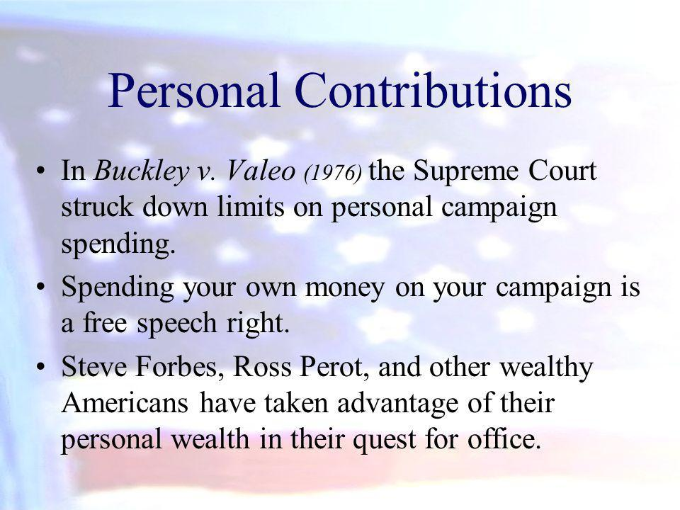 Personal Contributions