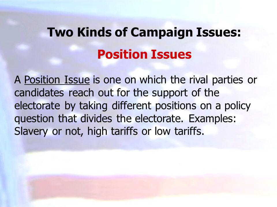 Two Kinds of Campaign Issues: