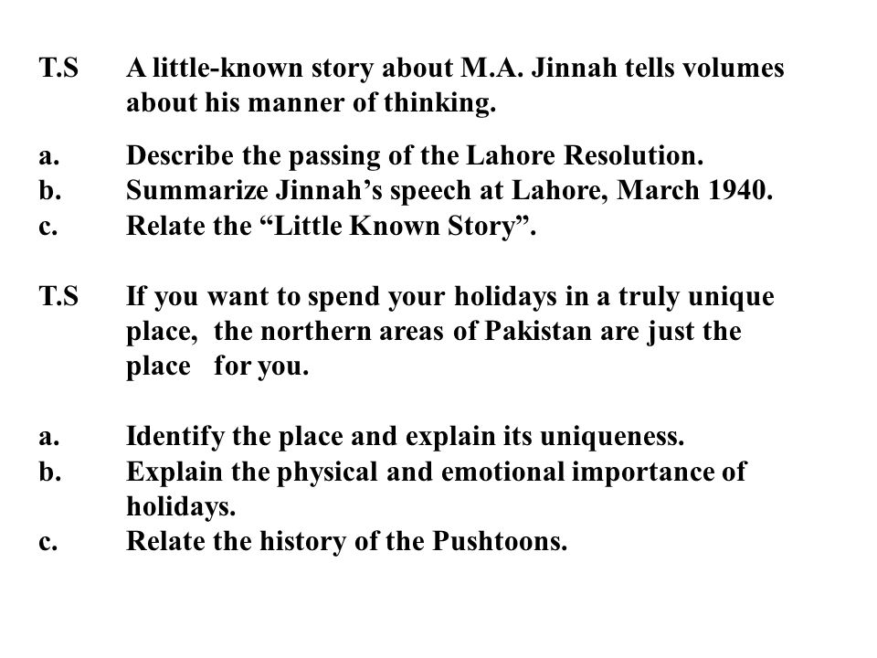 T. S. A little-known story about M. A. Jinnah tells volumes