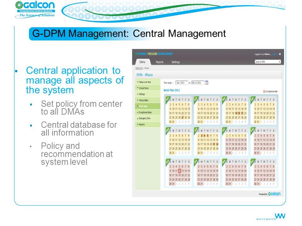 G-DPM Management: Central Management