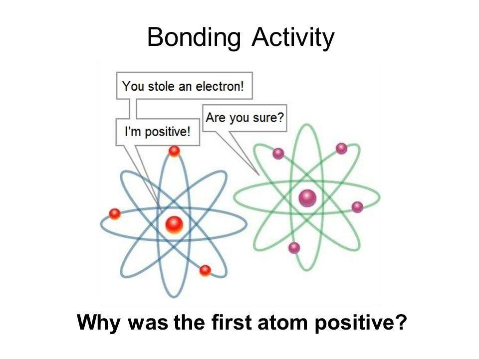 Bonding Activity Why was the first atom positive