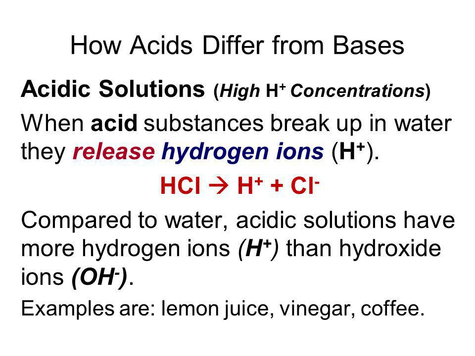 How Acids Differ from Bases