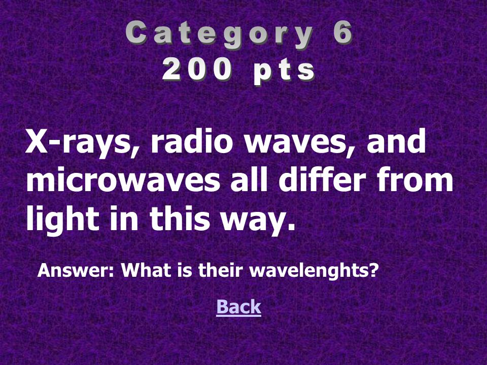 microwaves all differ from light in this way.