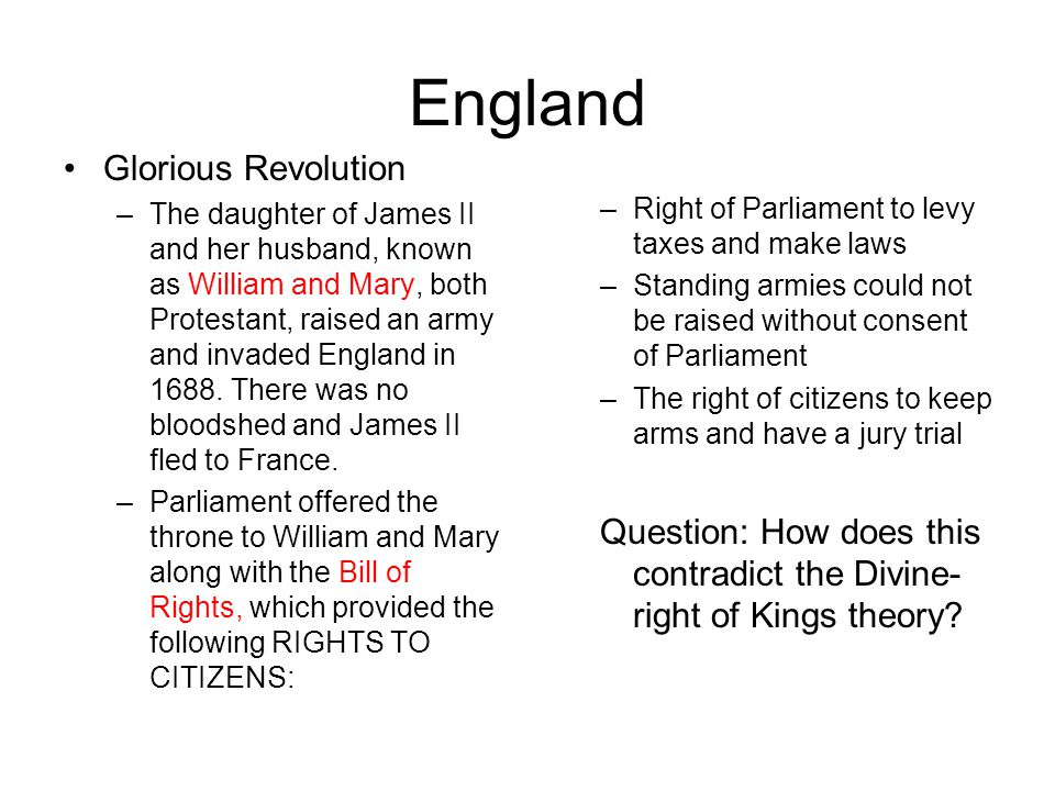 England Glorious Revolution