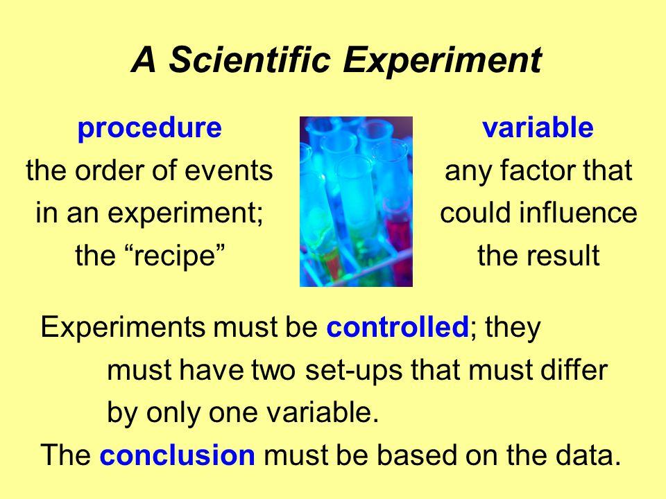 A Scientific Experiment