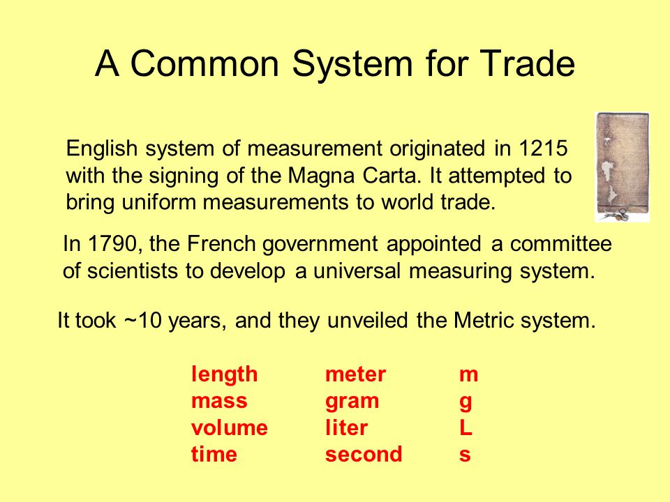 A Common System for Trade
