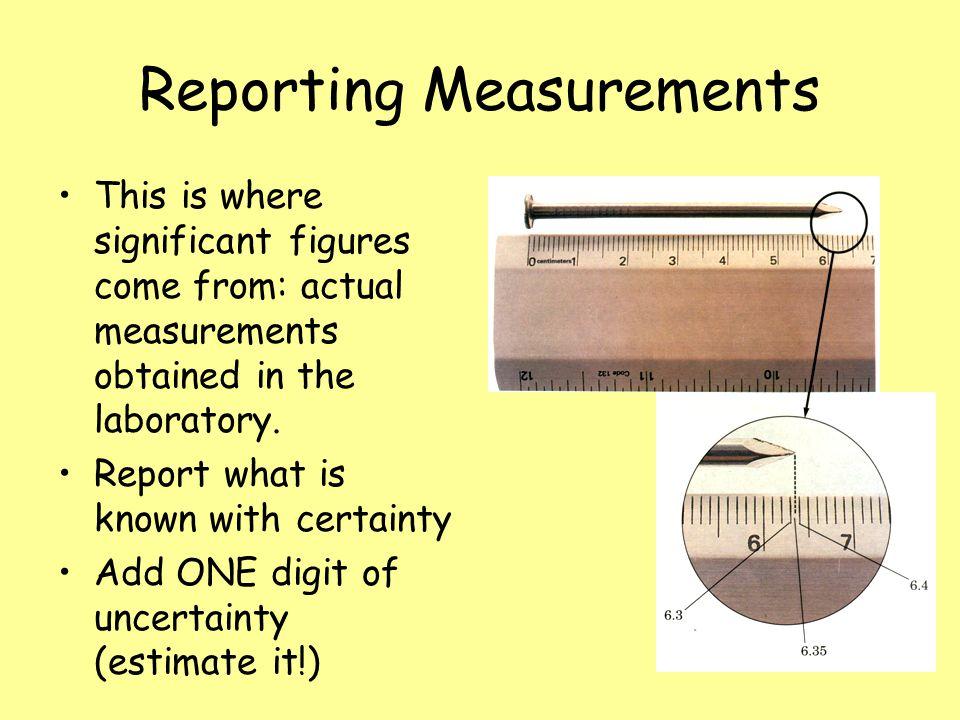 Reporting Measurements