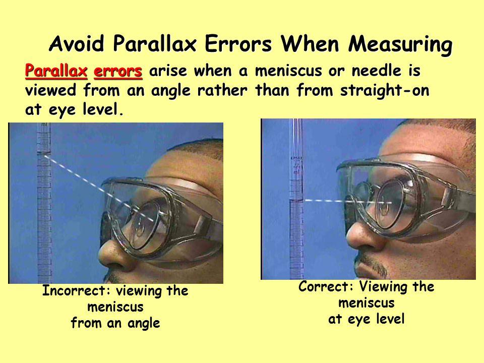 Avoid Parallax Errors When Measuring