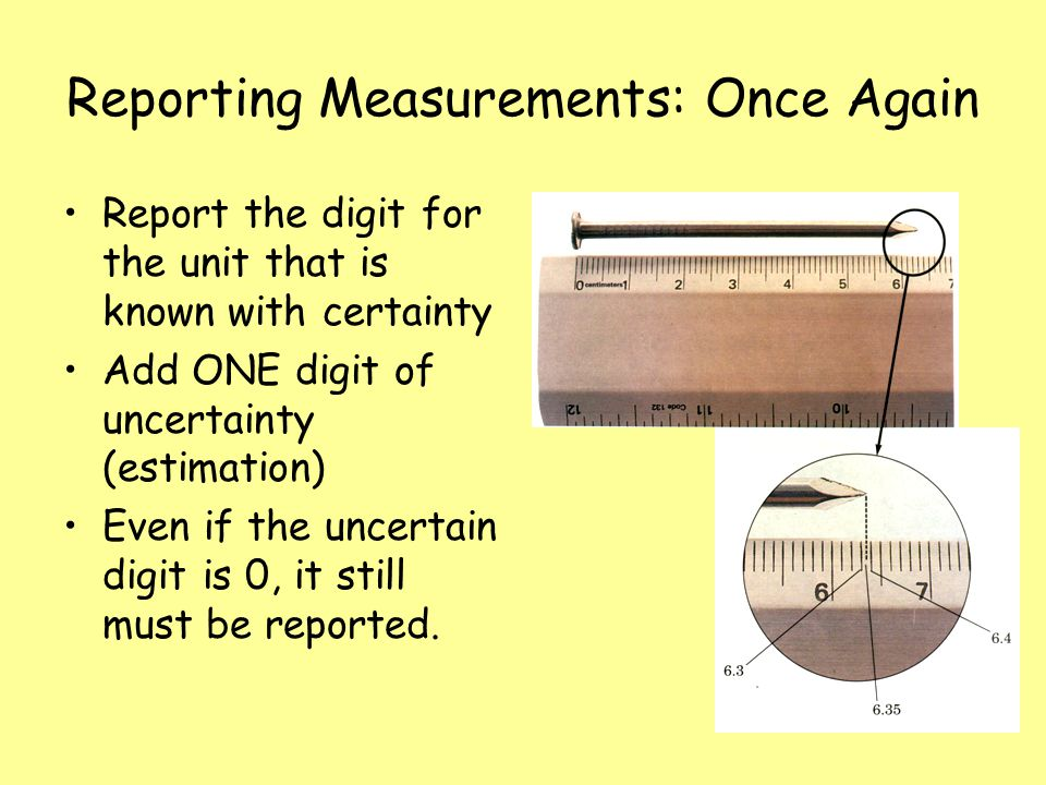 Reporting Measurements: Once Again
