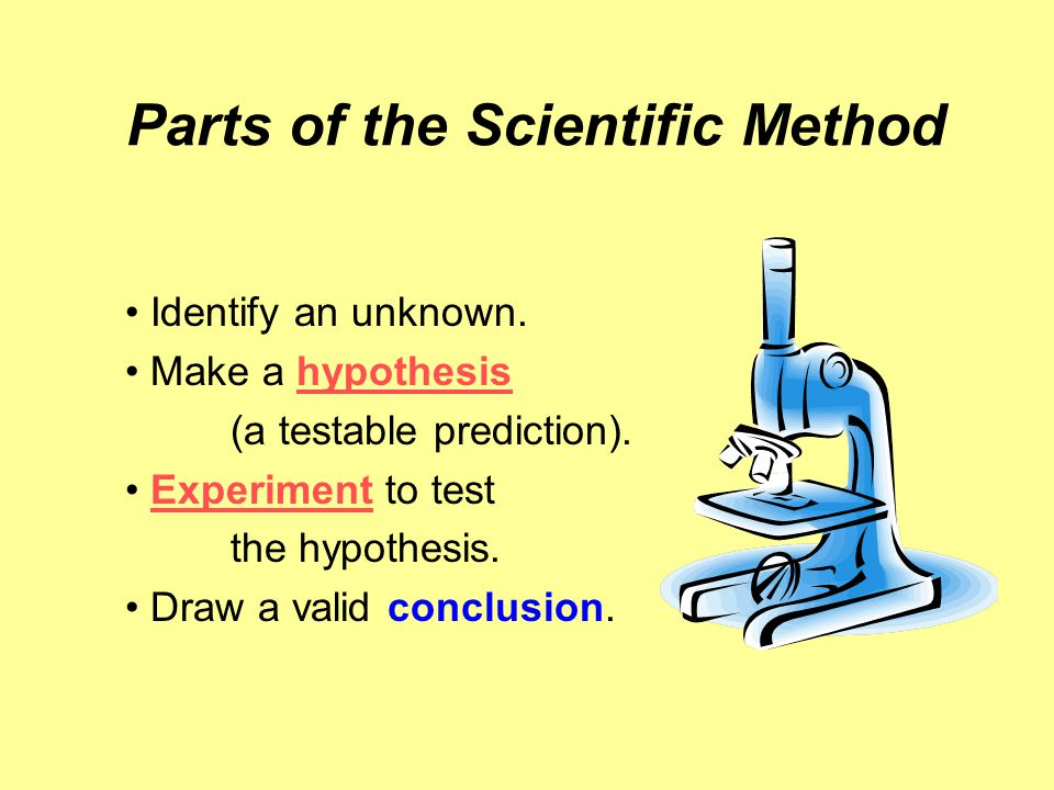 Parts of the Scientific Method