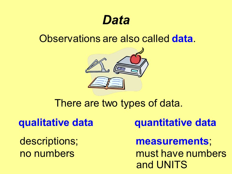 Observations are also called data.
