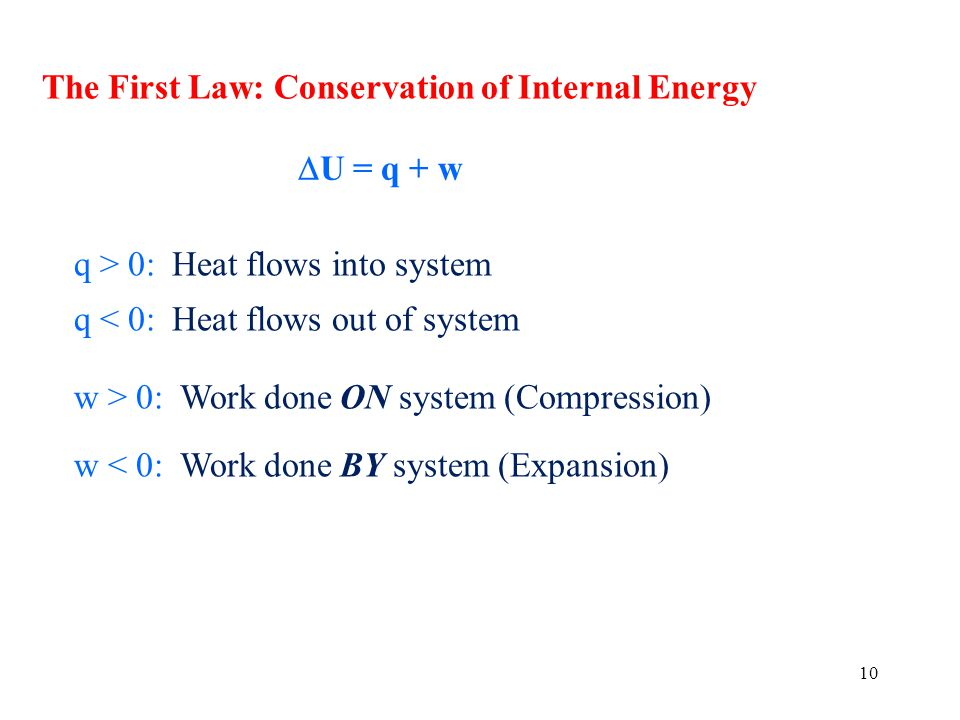 The First Law: Conservation of Internal Energy