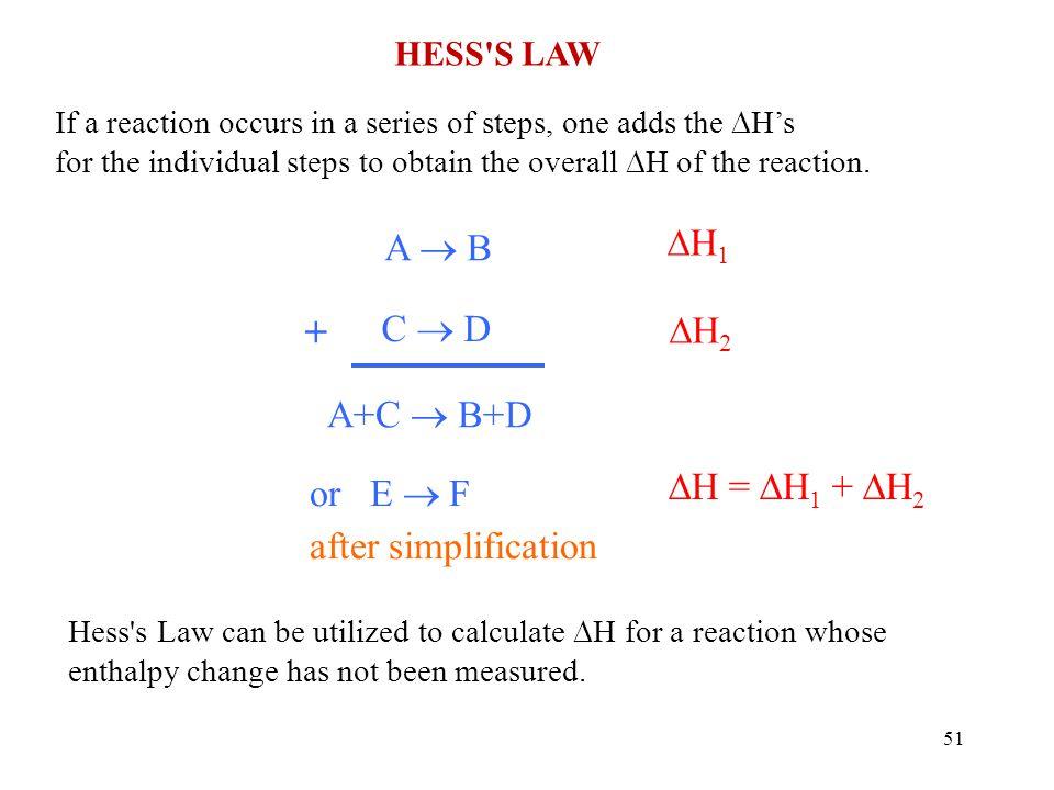 + H1 A  B C  D H2 A+C  B+D H = H1 + H2 or E  F