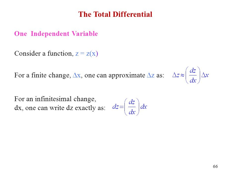 The Total Differential
