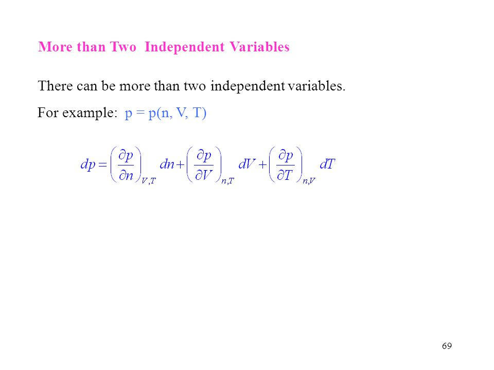 More than Two Independent Variables