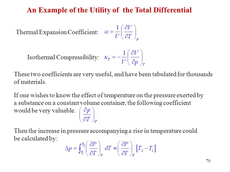 An Example of the Utility of the Total Differential