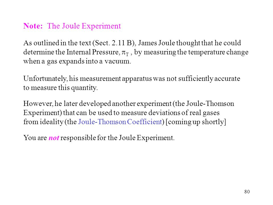 Note: The Joule Experiment